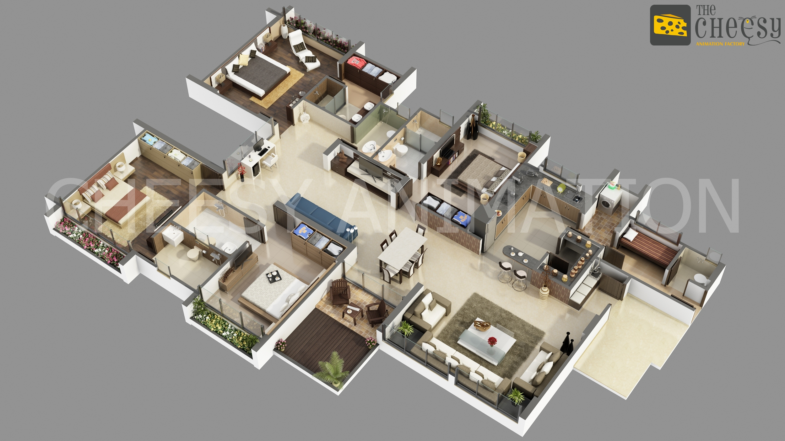 3d floor plan rendering an effective way to have for Plan rendering ideas