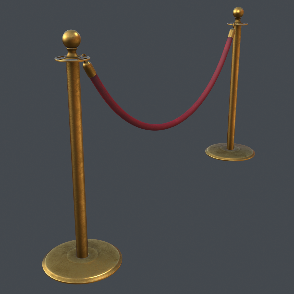 stanchion and velvet rope | cgtrader