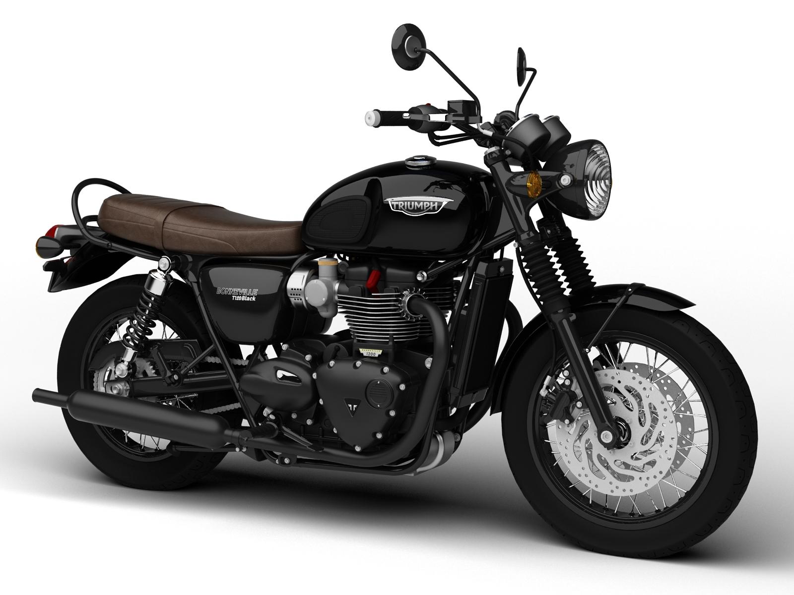 Triumph Bonneville T120 And T120 Black 2016 Cgtrader